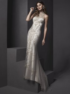 Sottero and Midgley Pearl/Light Gold Accent Catalina Wedding Dress Size 2 (XS)