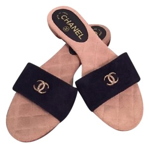 Chanel Sandals Black Mules