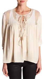 Johnny Was Romantic Lace Trim Embroidered Boho Victorian Cardigan