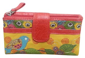 Fossil Kelly Bird Wallet Orange Multi Clutch