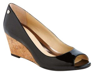 Calvin Klein BLACK PATENT LEATHER Wedges
