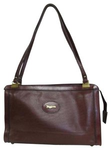JOHN ROMAIN Vintage Leather Satchel in Burgundy