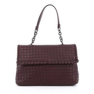 Bottega Veneta Nappa Satchel in Plum