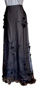 Melinda Eng Formal Demi-train Illusion Maxi Skirt Black