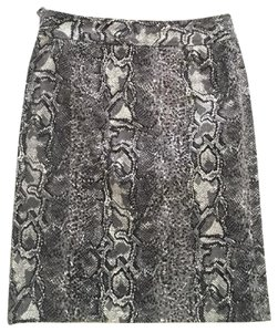 Etcetera Snake Skin Skirt Black White Grey
