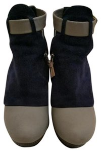Balenciaga Navy Blue Grey Wedges
