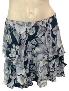 INTERMIX Mini Skirt Blue/White