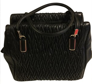 Coach Leather Twisted Satchel in Black