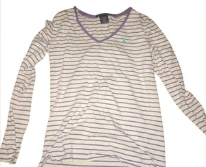 Polo Ralph Lauren T Shirt purple and white