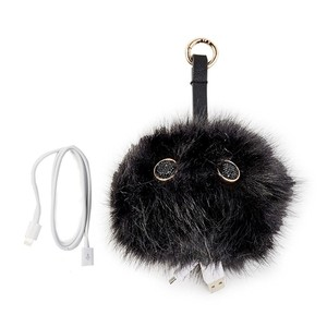 Under One Sky Monster Pom Pom Portable Charger iPhone & Android Power Bank, Black