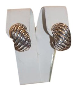 David Yurman David Yurman Silver Cable Earrings