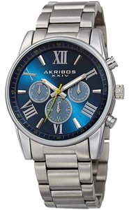 Akribos XXIV Men's Akribos XXIV AK912 Swiss Quartz Day Date Stainless Steel Bracele