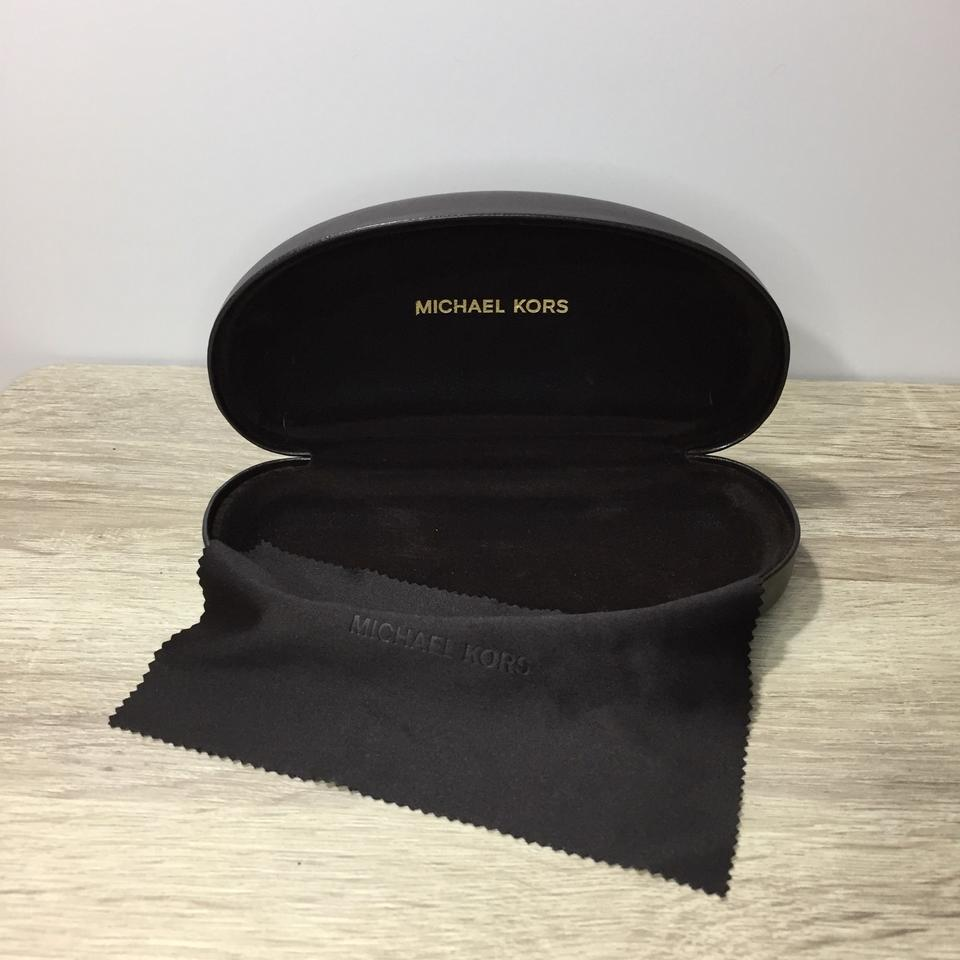 f6c868dd226 Michael Kors Dark Brown New Hard Shell Sunglasses Case W  Cloth ...