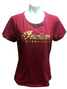 Indian Motorcycle Motorcycle Casual T Shirt Red