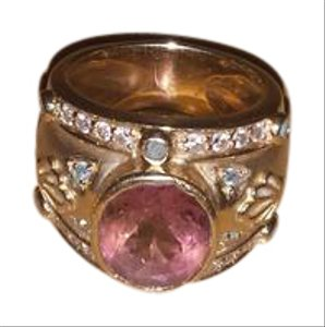 LAURA RAMSEY 14kt Yellow Gold Salmon Tourmaline Ring