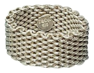 Tiffany & Co. Tiffany & Co Somerset mesh ring 925 silver size 6