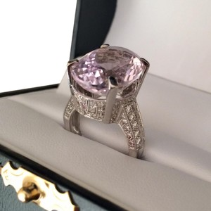 LeVian kunzite diamond ring