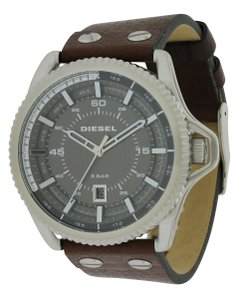 Diesel Diesel Rollcage Leather Strap Mens Watch DZ1716