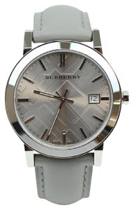 Burberry Burberry Women's Grey Leather Silver Tone Steel Watch BU9036