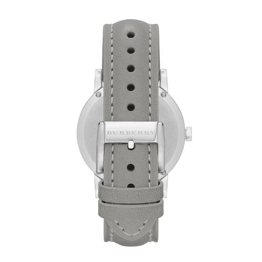 Burberry Grey Leather Stainless Steel The City BU9036 Watch