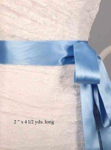 Porcelain Blue Ribbon Sash