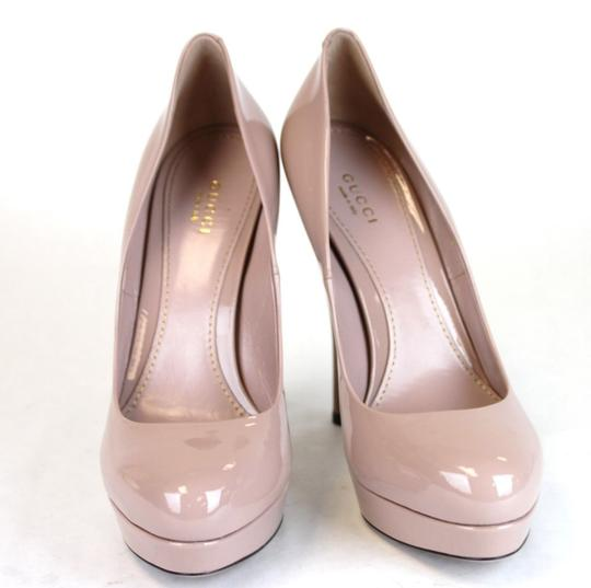 Gucci Patent Leather Platform Pink Pumps Image 2