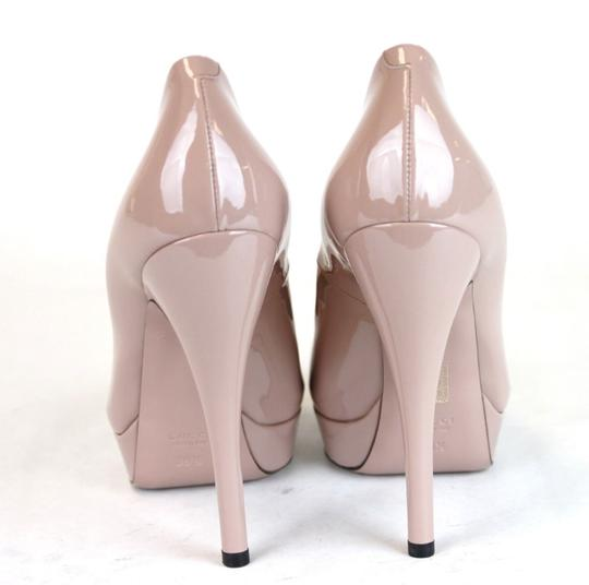 Gucci Patent Leather Platform Pink Pumps Image 4