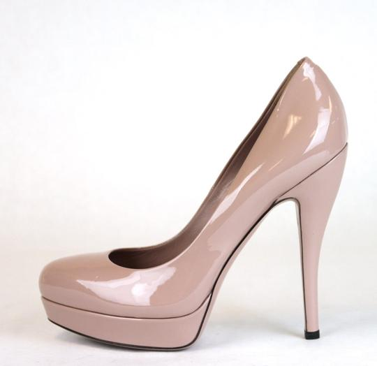 Gucci Patent Leather Platform Pink Pumps Image 5