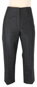 Céline Stretch Cropped Cocktail Silk Capri/Cropped Pants BLACK