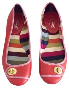 Coach red/ lavender Flats