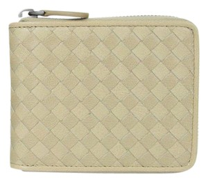 Bottega Veneta Leather Woven Zip Around Wallet w/Coin Pocket 122809 2903