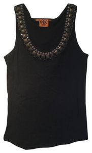 Tory Burch Embellished Detail Necklace Tie Top Black