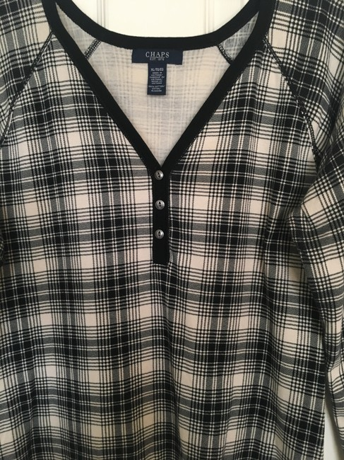 Chaps Plaid Top black/bone Image 1