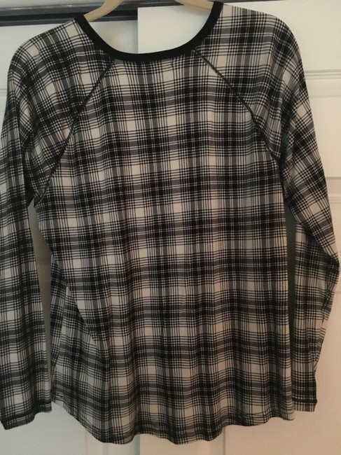 Chaps Plaid Top black/bone Image 3