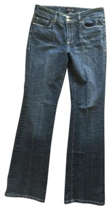 Seven7 Pocket Detail Long Boot Cut Jeans-Medium Wash