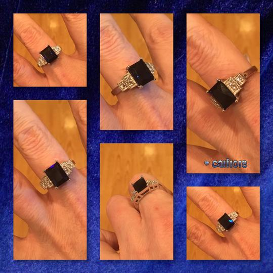 Other New 6ct White Gold Filled Blue Sapphire Ring Image 3