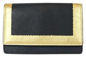 Bottega Veneta Leather Card Holder Wallet Coin Purse Black 133945 4080