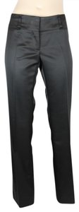 Céline Cocktail Silk Wool Slim Straight Pants BLACK