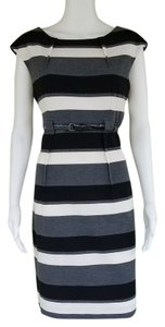 Calvin Klein Striped Belt Dress