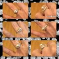 Other New Pearl and Sapphire White Gold Filled Ring Image 3