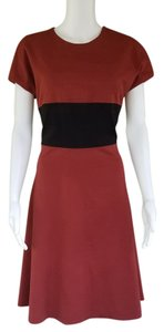 Anne Klein Stretch Oxblood Black Sheath Dress
