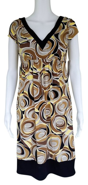 Preload https://img-static.tradesy.com/item/20761327/maggy-london-multi-color-brown-yellow-print-slinky-empire-short-casual-dress-size-8-m-0-1-650-650.jpg