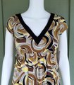 Maggy London short dress Multi-color Slinky Empire Waist Yellow Brown Pull-on on Tradesy Image 1