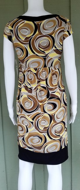 Maggy London short dress Multi-color Slinky Empire Waist Yellow Brown Pull-on on Tradesy Image 2