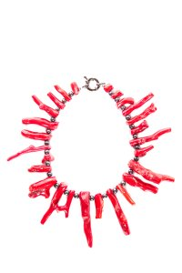 Other Red Branch Coral and Black Pearl Necklace
