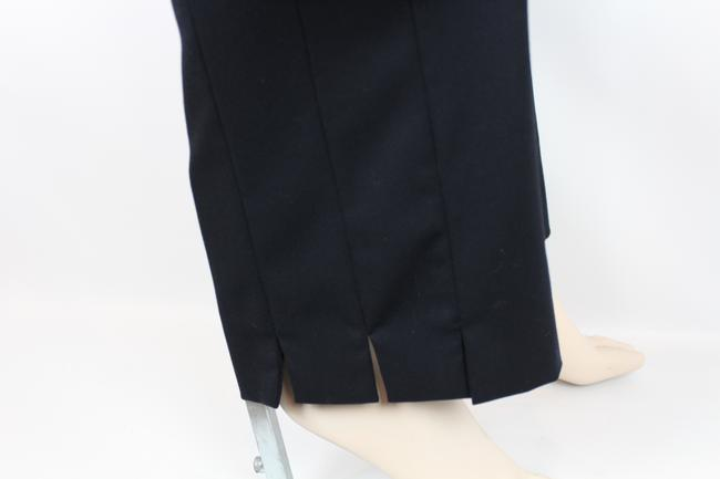 Escada Wool Tailored Slim Fitted Straight Pants NAVY BLUE Image 1