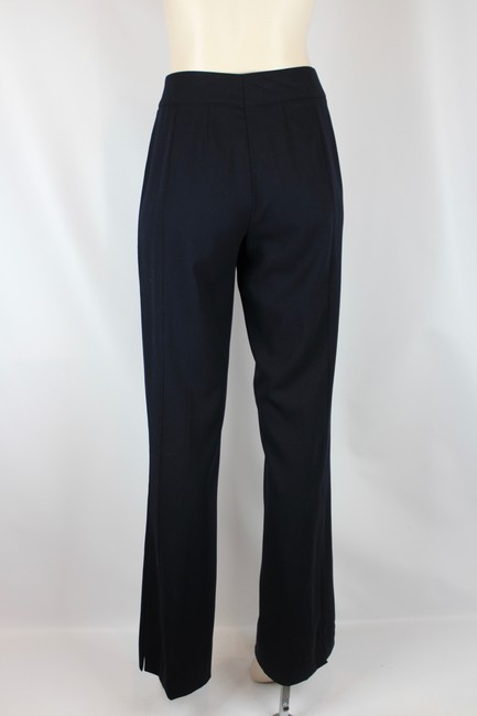 Escada Wool Tailored Slim Fitted Straight Pants NAVY BLUE Image 2