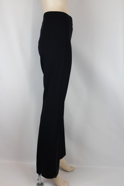 Escada Wool Tailored Slim Fitted Straight Pants NAVY BLUE Image 3