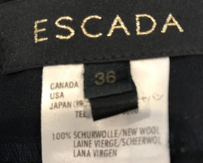 Escada Wool Tailored Slim Fitted Straight Pants NAVY BLUE Image 5