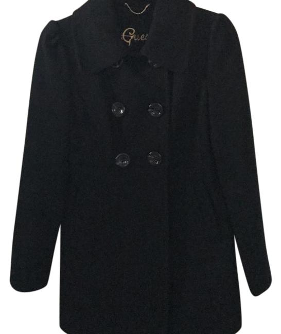 Preload https://img-static.tradesy.com/item/20761418/guess-black-double-breasted-with-collar-60-wool-worn-twice-coat-size-petite-2-xs-0-1-650-650.jpg
